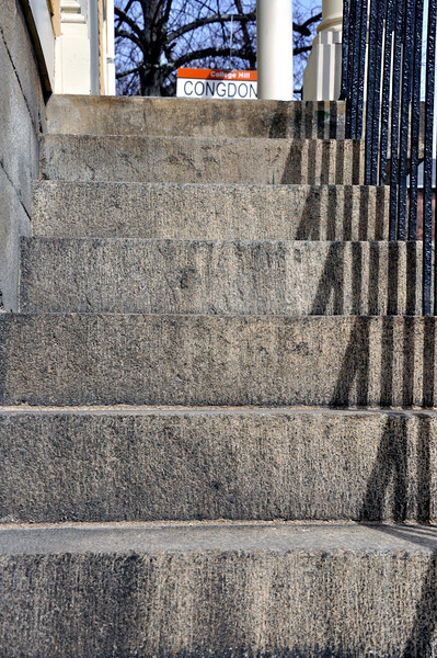 Steps of a random building heading to Congdon Street in College Hill.