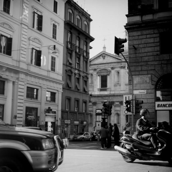 City Center in Rome :Italy beyond 70mm. Photographs taken on 80mm (Medium format film)