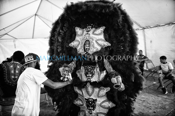 New Orleans Mardi Gras Indian Rhythm Section parade (Sat 4/27/19)