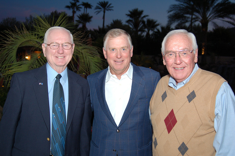 VMLC Chair Sam Young, Vice President Dan Quayle and Honorary Luncheon Chair John Dawson