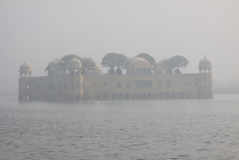 floating palace in the fog outside Amber
