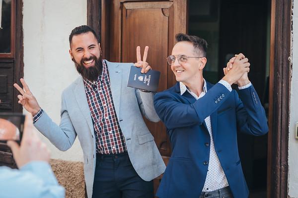 Dave y Francesco (Boda civil)