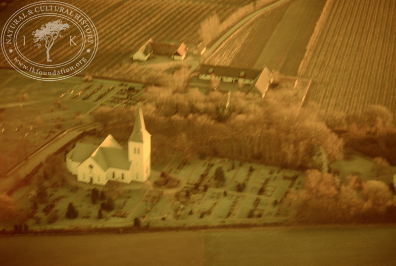 Södra Mellby church. Experimentally photographed with yellow filter (20 November, 1988). | LH.0276