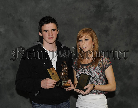Eddie English and Laura McShane with their Sports Awards 10W45N603