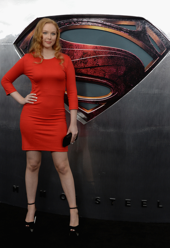 """. Actress Molly Quinn attends the \""""Man Of Steel\"""" world premiere at Alice Tully Hall at Lincoln Center on June 10, 2013 in New York City.  (Photo by Andrew H. Walker/Getty Images)"""