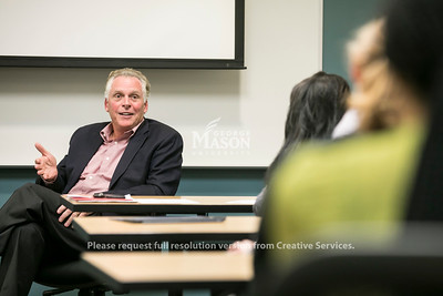 Terry McAuliffe in Public Policy class