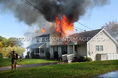 Kings Hwy. Fire (Shelton, CT) 10/17/09