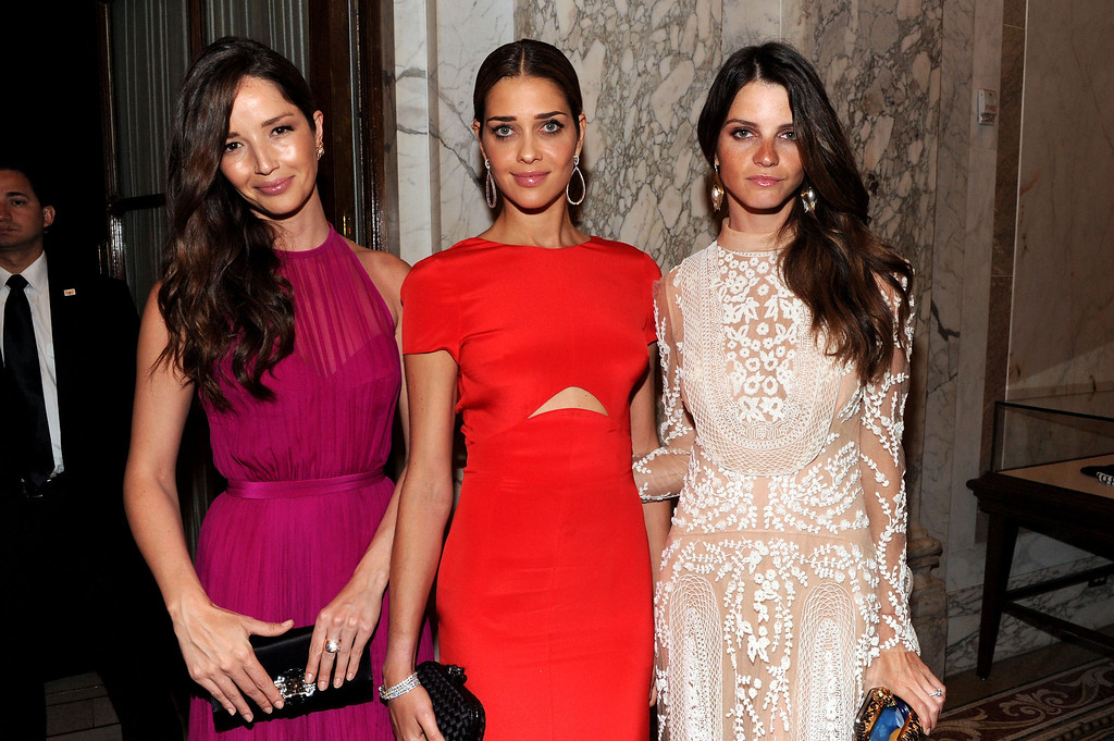 . NEW YORK, NY - JUNE 13:  (L-R)  Models Renata Maciel, Ana Beatriz Barros, Jeisa Chiminazzo attend the 4th Annual amfAR Inspiration Gala New York at The Plaza Hotel on June 13, 2013 in New York City.  (Photo by Jamie McCarthy/Getty Images)