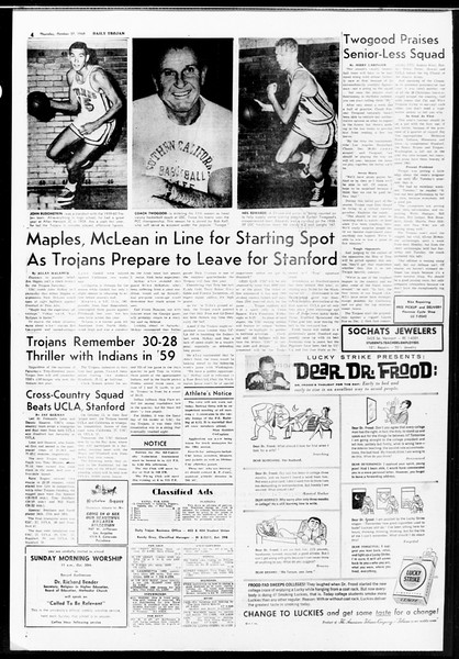 Daily Trojan, Vol. 52, No. 29, October 27, 1960