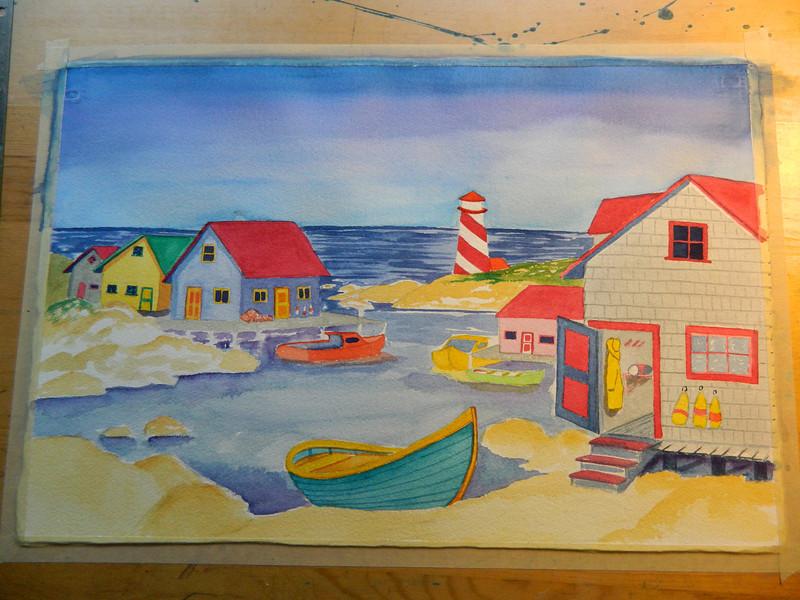 Nova Scotia Harbor, watercolor, 15x22. july 26, 2012. DSCN1353.JPG