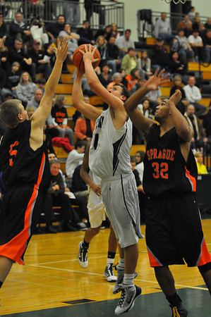 Sprague vs West Salem Varsity Boys Basketball