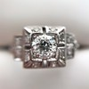 0.58ctw Old European Cut Diamond Art Deco Illusion Ring 10