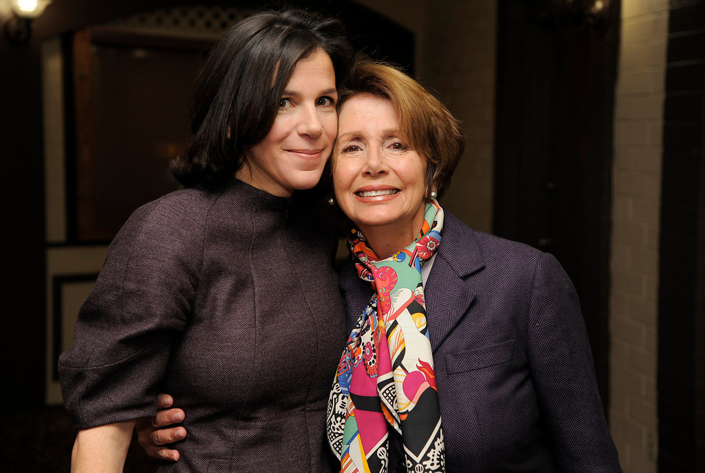 ". Alexandra Pelosi, left, director of HBO Documentary Films\' ""Fall to Grace,\"" poses with her mother Nancy Pelosi, Minority Leader of the U.S. House of Representatives, before a screening of the film at the 2013 Sundance Film Festival, Friday, Jan. 18, 2013, in Park City, Utah. (Photo by Chris Pizzello/Invision/AP)"
