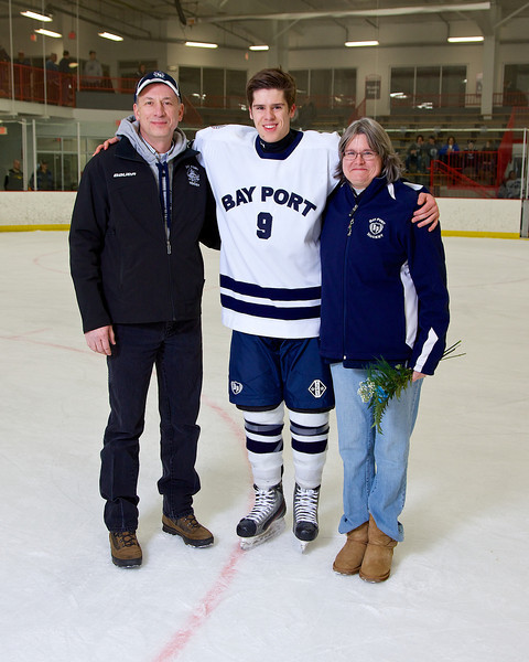Bay Port Hockey Seniors Night Parent Photos