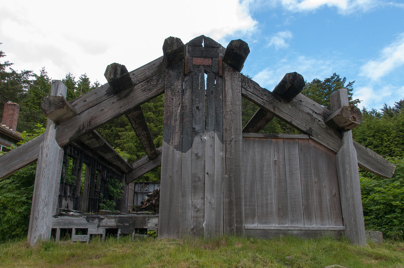 Old wooden structure in Skidegate, Haida Gwaii, British Columbia