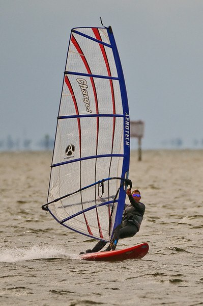 Windsurfing off Sanibel Causeway