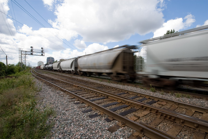 Passing Freight Train