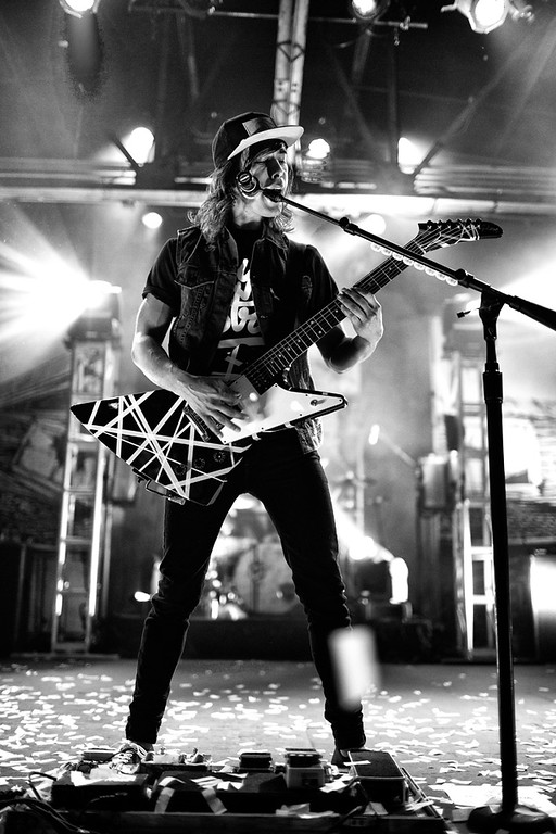 Vic Fuentes of Pierce The Veil at The Warehouse live in Houston, Texas