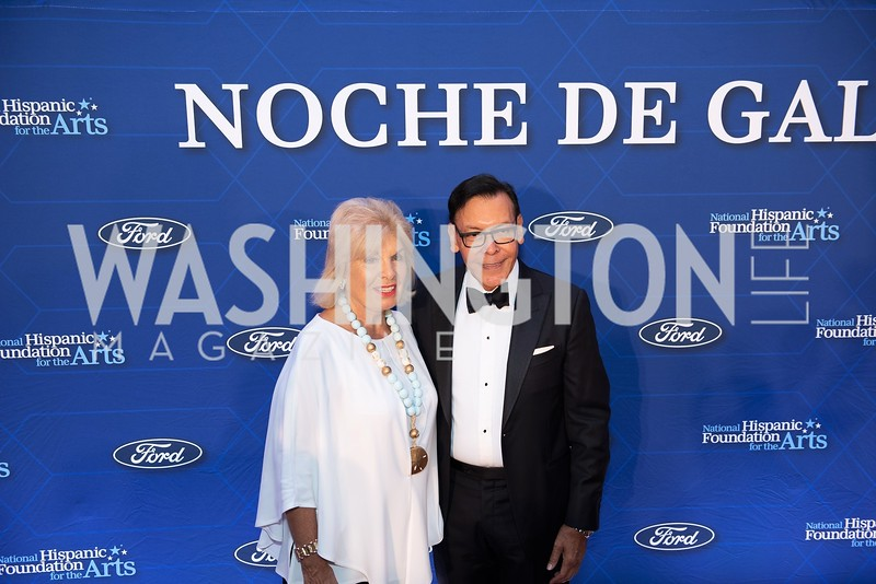 Patricia Harrison, Felix Sanchez. Photo by Yasmin Holman. Noche de Gala. Mayflower Hotel. 09.18.19