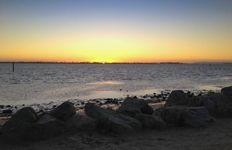 Sonnenuntergang an der San Diego Bay