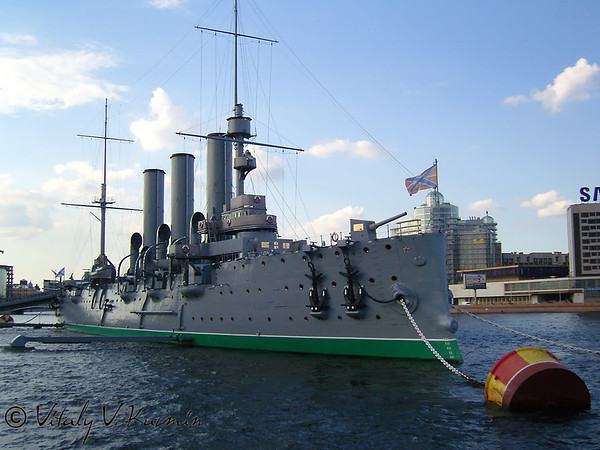 The Cruiser Aurora Museum in Saint Petersburg