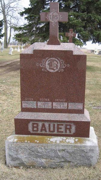 Joseph and Susan Bauer Headstone