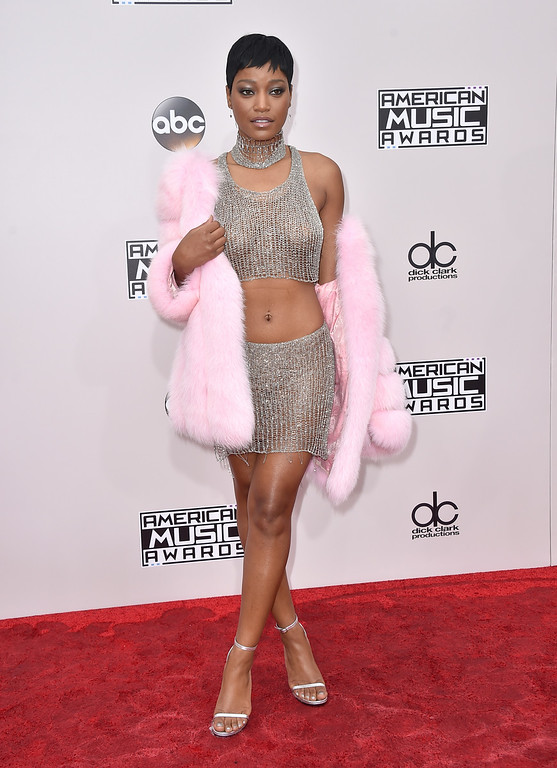 . Keke Palmer arrives at the American Music Awards at the Microsoft Theater on Sunday, Nov. 20, 2016, in Los Angeles. (Photo by Jordan Strauss/Invision/AP)