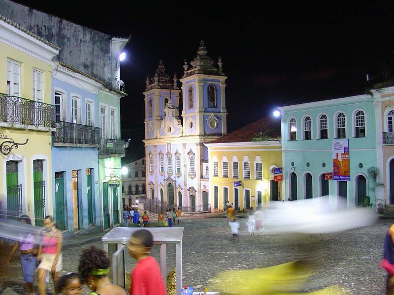 Pelourinho at Night - Salvador.JPG