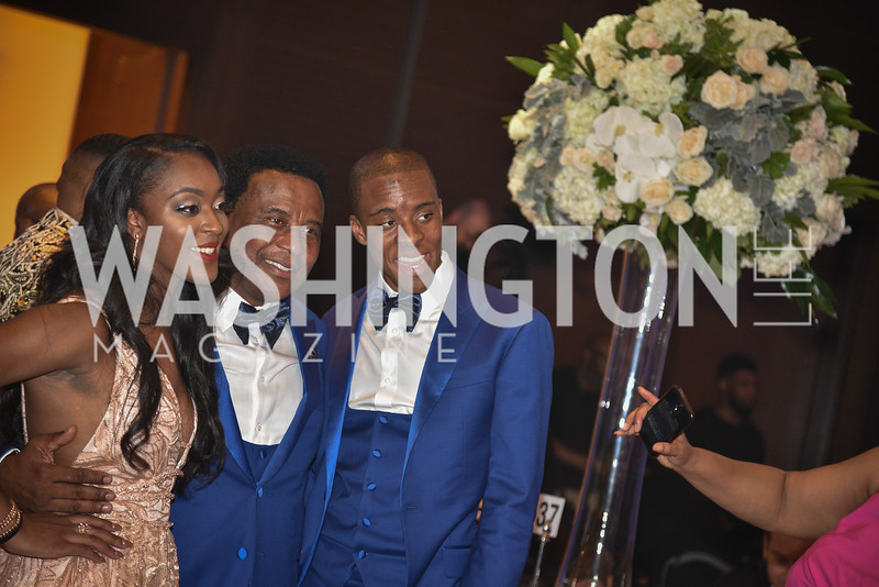 Ekene Irono, Emmanuel Irono, and Chidera Irono, TIS Foundation, 25th Anniversary Gala, Marriott Marquis, June 6, 2019, photo by Ben Droz.