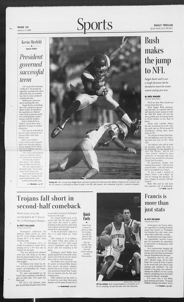 Daily Trojan, Vol. 157, No. 4, January 13, 2006