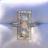 2.40ctw Art Deco Old European Cut Diamond Geometric Dinner Ring 24