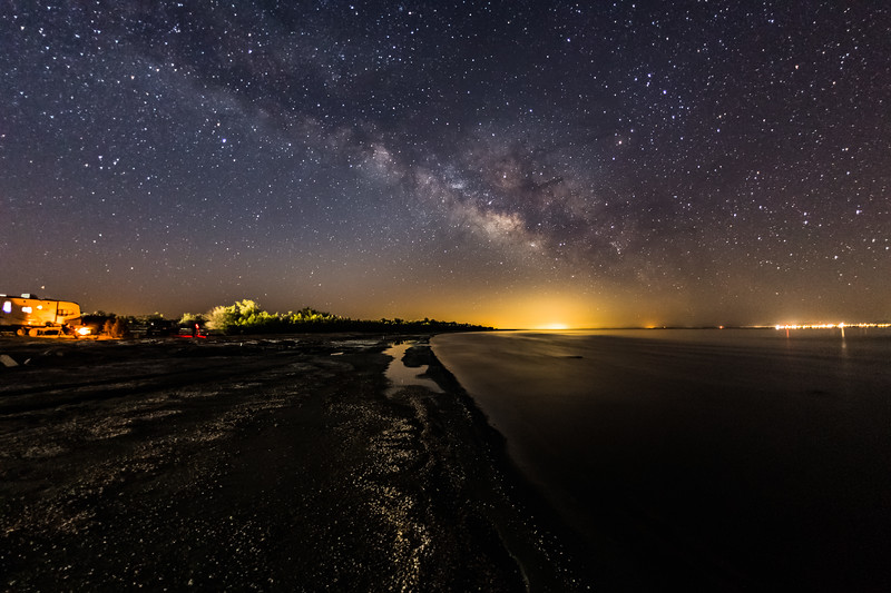 Camping and Watching the Milky Way Rise Over the Salton Sea