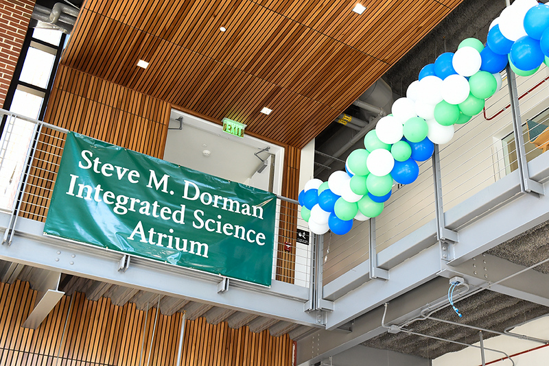 The atrium was named in honor of Dr. Steve Dorman