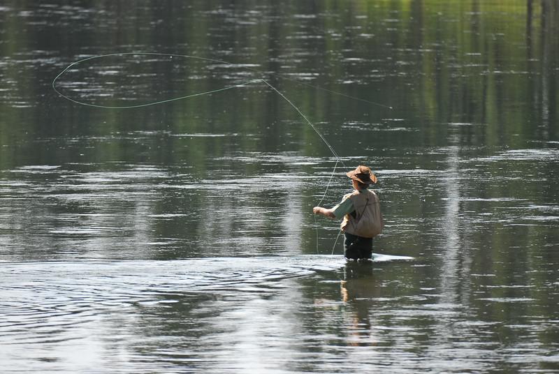 Fly fisherman, Yellowstone River near Otter Creek