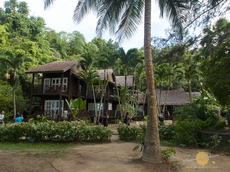 There are chalets for overnight stay on Palau Manukan