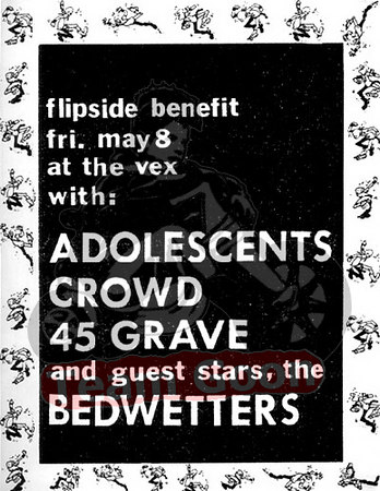The Adolescents - The Crowd - 45 Grave - The Bedwetters