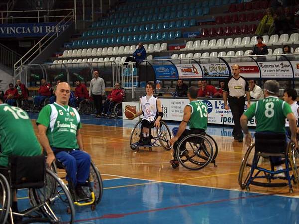 Basket in carrozzina: Solsonica Rieti - Don Orione Roma