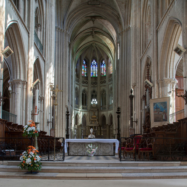 Normandy, Eu Eglise Notre-Dame and Saint-Lawrence Choir Aisle