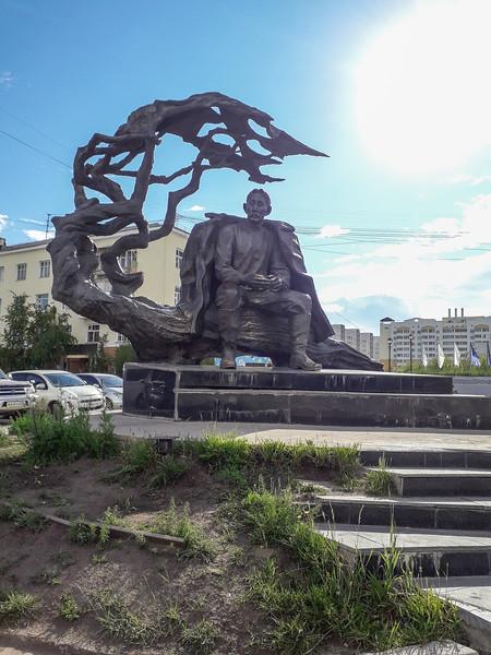 Monument to Yakut writer Aekulakovsky