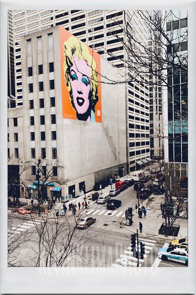 Marilyn Monroe Mural on Michigan Ave.