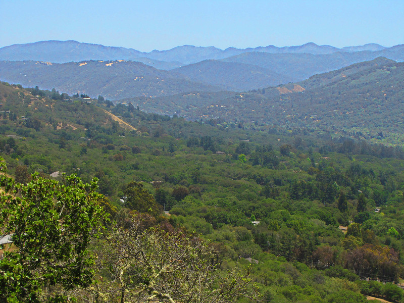 Eastern Carmel Valley, looking SE from Laureles Grade