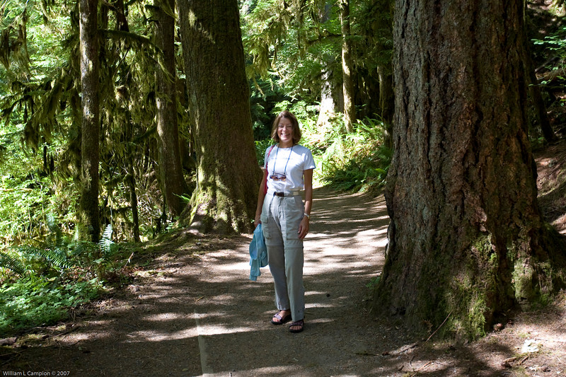 Melinda hiking near Meeramer Falls Olympic National Park