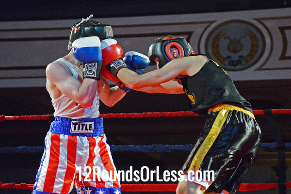 Bout #6  Justin Aviles, West Side Boxing Club  vs  Zi Stalnaker, Terminator Boxing Club  135 Lbs. - Novice