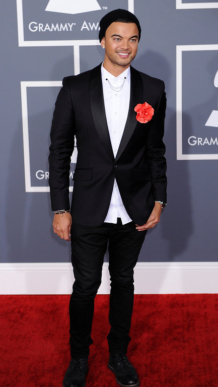 . Guy Sebastian arrives to  the 55th Annual Grammy Awards at Staples Center  in Los Angeles, California on February 10, 2013. ( Michael Owen Baker, staff photographer)