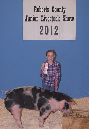 2012 ROBERTS COUNTY JUNIOR LIVESTOCK SHOW