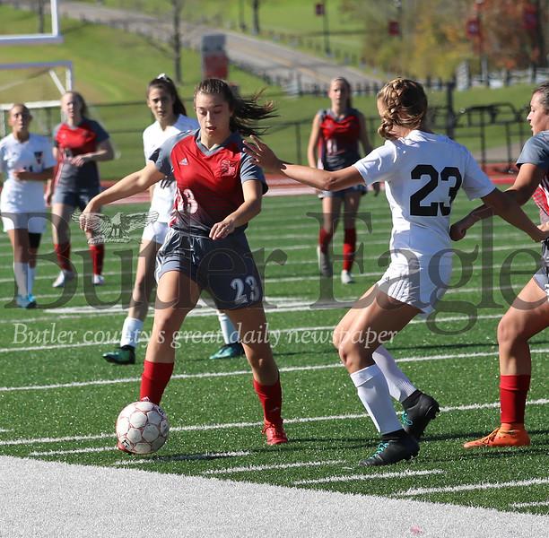 Slippery Rock girls soccer playoff game vs Fairview