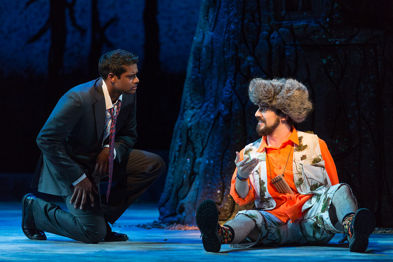 "Sean Panikkar as Tamino and Ben Edquist as Papageno in The Glimmerglass Festival's 2015 production of Mozart's ""The Magic Flute."" Photo: Karli Cadel/The Glimmerglass Festival"