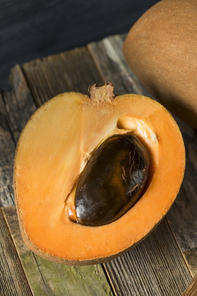 Raw Organic Brown Mamey Fruit