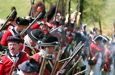 British Battle Line - Battle of Brandywine - Chad's Ford, Pennsylvania