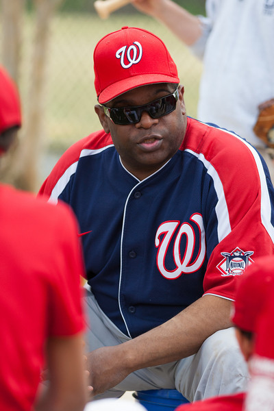 Coach Coop post game. The Nationals started out their season with a 4-1 win over the Pirates. 2012 Arlington Little League Baseball, Majors Division. Nationals vs Pirates (14 Apr 2012) (Image taken by Patrick R. Kane on 14 Apr 2012 with Canon EOS-1D Mark III at ISO 400, f2.8, 1/800 sec and 142mm)